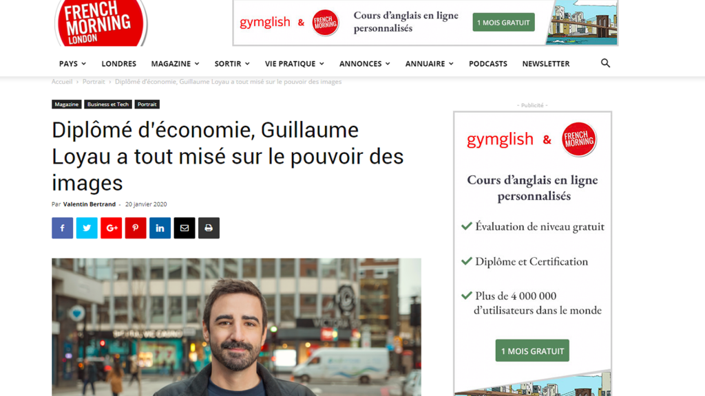 Article in French Morning London